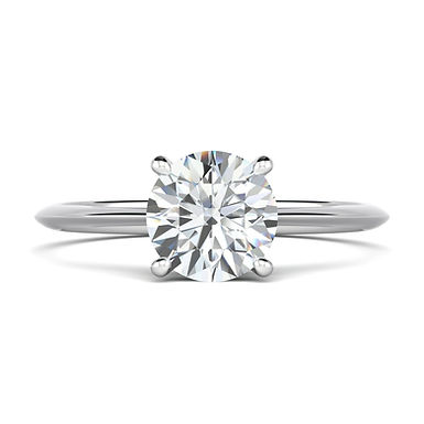 Tilly Classic, Bague Diamant Solitaire 0,80 ct / G / VS Or Blanc 18 carats