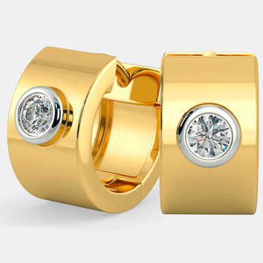 Unik by GHAUM, Boucles d'Oreilles Diamant Solitaire Or 18 carats
