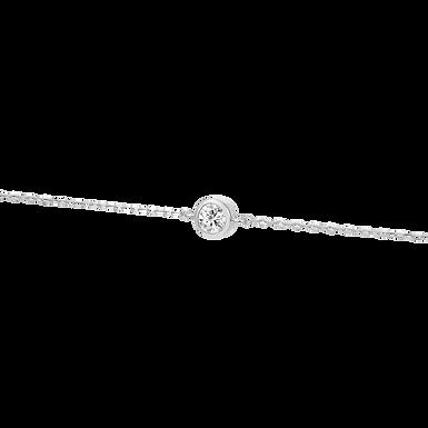 Swag You, Bracelet Diamant Solitaire / F / VVS Or Blanc 18 carats