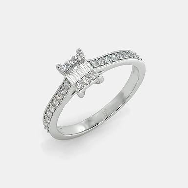 Estia, Bague Diamants Joaillerie pour Femme Or Blanc 18 carats