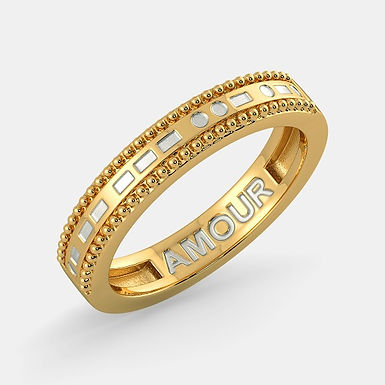 AMOUR, Alliance Bicolore Or 18 carats