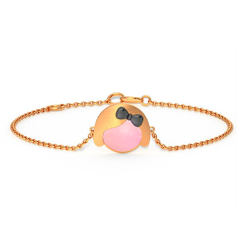 Joly, Bracelet Or Rose 14 carats pour Fille