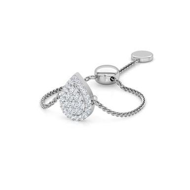LOVE LINK-Marquise, Bague sertie de Diamants Or 18 carats