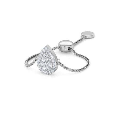 LOVE LINK-Marquise, Bague sertie de Diamants Or Blanc 18 carats