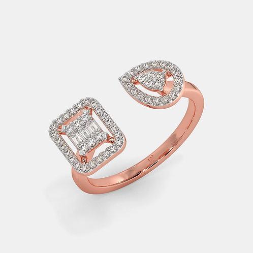 Arena Demi Lune, Bague Diamants Joaillerie pour Femme Or 18 carats