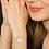 Thumbnail: Bracelet Triple-Lov Argent 925 Rhodié Or Blanc Nacre de Tahiti pour Fem