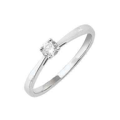 Classiq3, Bague Diamant Solitaire Or Blanc 18 carats