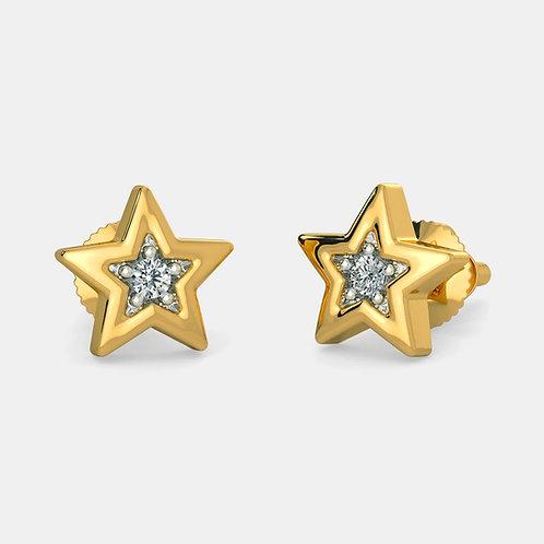 Mon Etoile, Boucles d'Oreilles Diamants Or 18 carats pour enfant