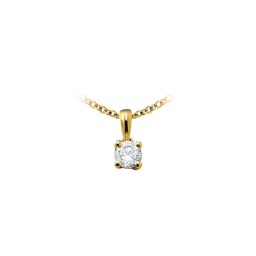 OneLoveYou, Pendentif Diamant Solitaire 0.22 ct Or Jaune 18 carats