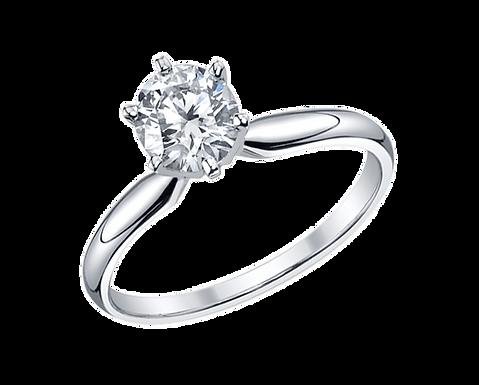 Emilia, Bague Diamant Solitaire à partir de 0,50 ct / F / VVS Or Blanc 18 carats