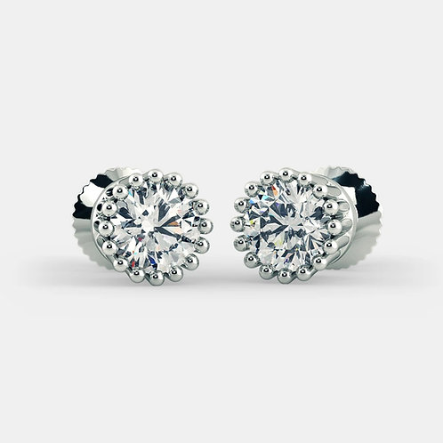 Ahnnie by GHAUM, Boucles d'Oreilles Diamant Solitaire Or 18 carats