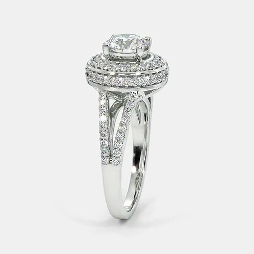 Charlotte, Bague Diamant Solitaire Or Blanc 18 carats