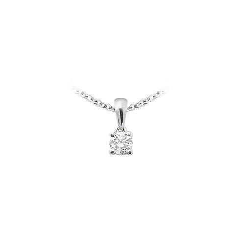 OneLove, Pendentif Diamant Solitaire 0.18 ct Or Blanc 18 carats