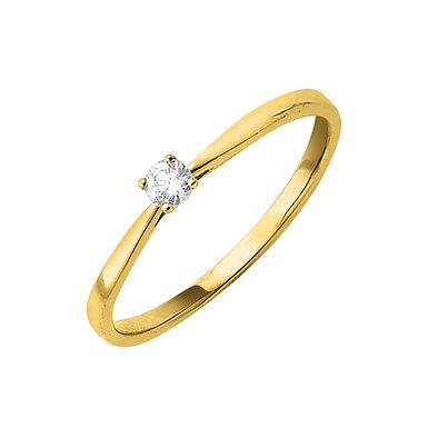 Classiq1, Bague Diamant Solitaire Or Jaune 18 carats