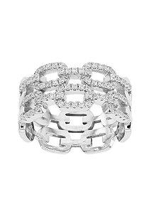 CHARLENE, Bague diamant en oxyde de zirconium pour femme argent 925