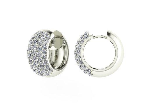 SONIA, Boucles d'Oreilles diamant en oxyde de zirconium pour femme argent 925