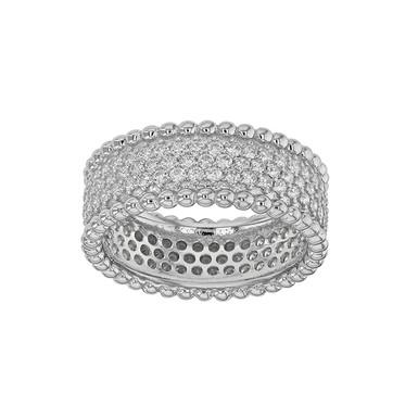 DECLARATION, Bague diamant en oxyde de zirconium pour femme argent 925 certifié