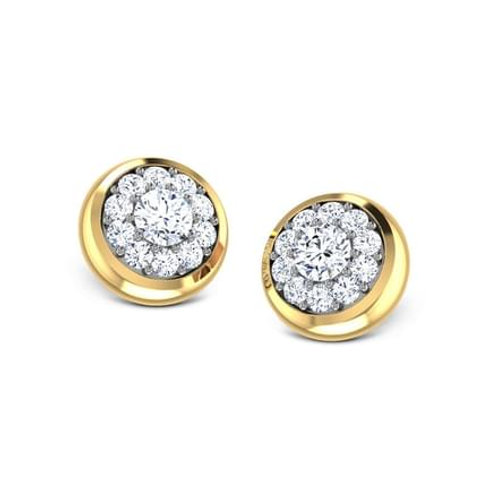 LISA, Boucles d'Oreilles Diamants pour Femme Or Jaune 18 carats