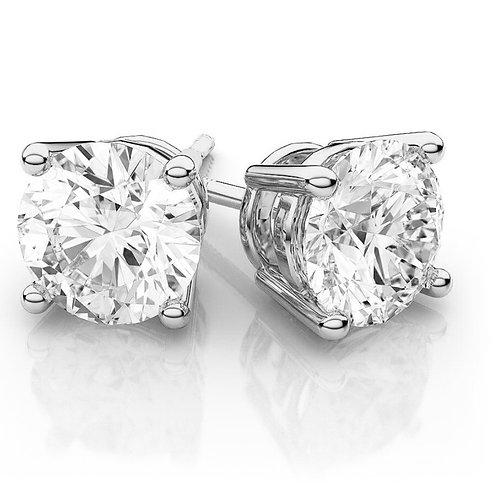 SOLITAIRE, Boucles d'Oreilles diamant en oxyde de zirconium pour femme