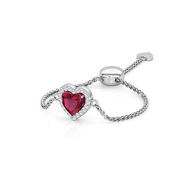 LOVE LINK-G, Bague Diamants Grenat Or 18 carats