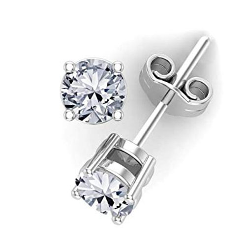 So by GHAUM, Boucles d'Oreilles Diamant Solitaire Or 18 carats