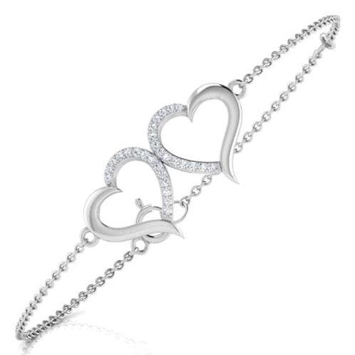 Aphrodite, bracelet diamants pour femme or blanc 18 carats