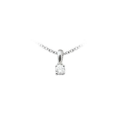 OneLove, Pendentif Diamant Solitaire 0.12 ct Or Blanc 18 carats