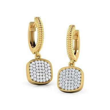 LYDIA, Boucles d'Oreilles Diamants pour Femme Or 18 carats