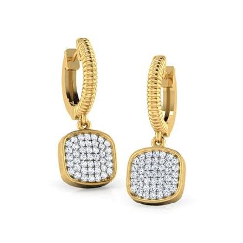 CLUSTERA, Boucles d'Oreilles Diamants pour Femme Or 18 carats