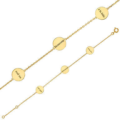 AIMER, Bracelet serti d'oxydes de zirconium pour Femme plaqué or jaune