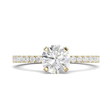 Emmy, Bague Diamant Solitaire F / VVS Or Blanc 18 carats