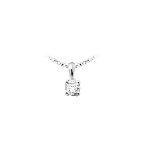 OneLoveYou, Pendentif Diamant Solitaire 0.22 ct Or Blanc 18 carats