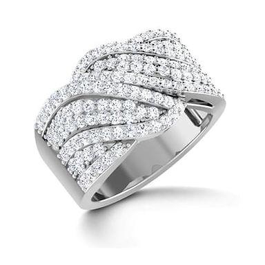 AMBER, Bague Alliance Diamants pour Femme Or Blanc 18K 750°