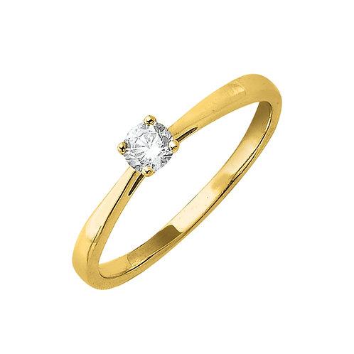 Classiq3, Bague Diamant Solitaire Or Jaune 18 carats