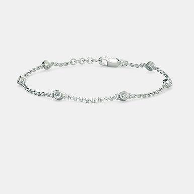 LeClassic, Bracelet Or Blanc 18 carat serti de diamants ronds