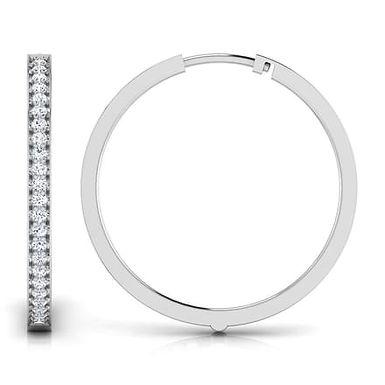 JAZZY, Boucles d'Oreilles Créoles Diamants pour Femme Or 18 carats