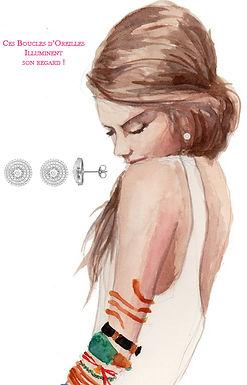 Boucles d'Oreilles pour Femme Argent