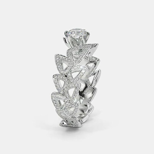 Dazzle Ghaum, Bague Diamant Solitaire Or Blanc 18 carats