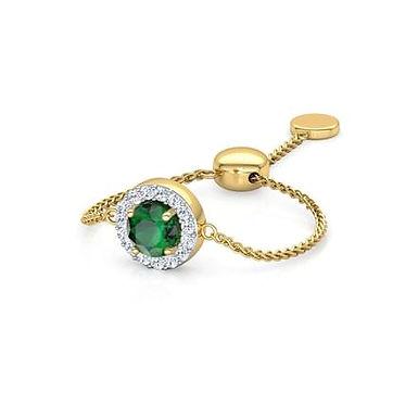 LOVE LINK-A, Bague Diamants Tsavorite Or 18 carats