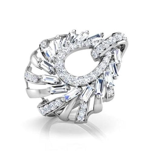"""Bague Diamant Joaillerie pour Femme """"Caliste"""" Or Blanc 18K 750° d'Or Fi"""