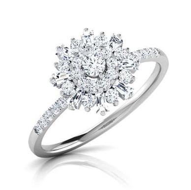 CAMERON, Bague Diamant Joaillerie pour Femme Or 18 carats 750° d'Or Fin