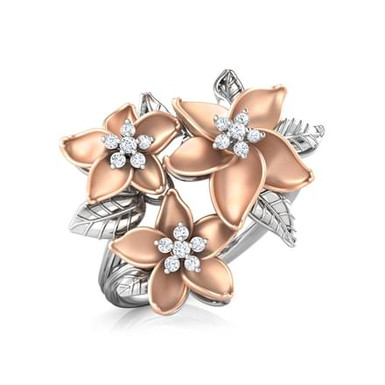 MARGUERITE, Bague Diamants pour Femme Or 18 carats - Collection Charme