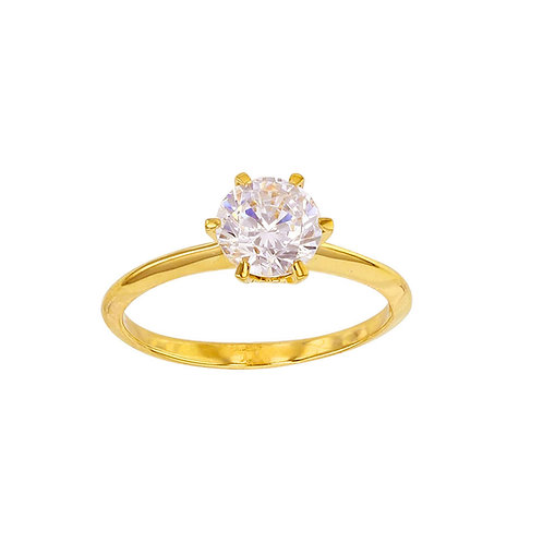 Alicey, Bague Or Jaune 9k 375° Oxyde Solitaire Joaillerie pour Femme