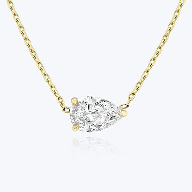 Swag Solo 2, Collier Diamant Solitaire / G / VS Or Blanc 18 carats