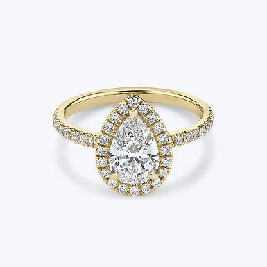 Lovy Bloom, Bague Diamant Solitaire F / VVS Or 18 carats