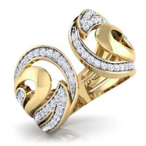 DEMILUNE FbyG, Bague Diamant Joaillerie pour Femme Or Jaune 18 carats