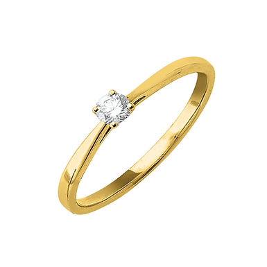 Classiq2, Bague Diamant Solitaire Or Jaune 18 carats