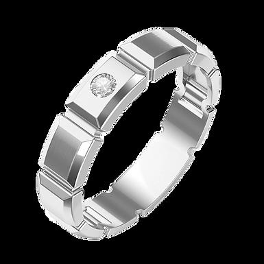 Bague Alliance Diamant Platine pour Homme, Platinhom