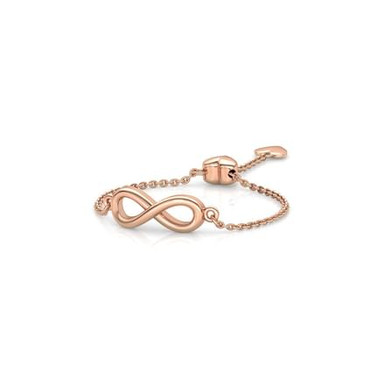 LOVE LINK INFINITY, Bague Or Rose 18 carats