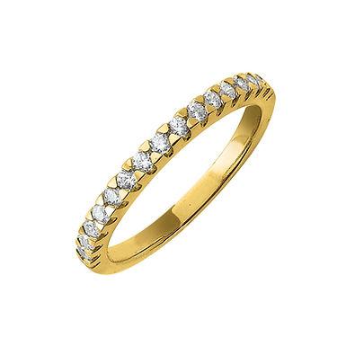 Abigail-A, Bague Alliance Diamant Or Jaune 18 carats